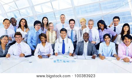 Business People Corporate Group Office Team Concept