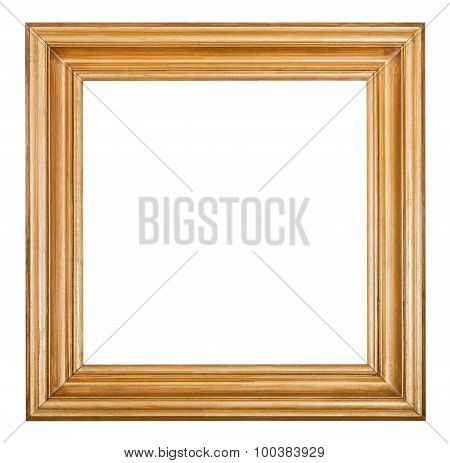 Square Golden Lacquered Wooden Picture Frame