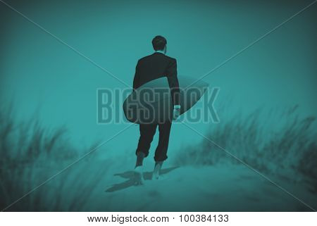 Businessman Surf Corporate Holiday Vacation Concept