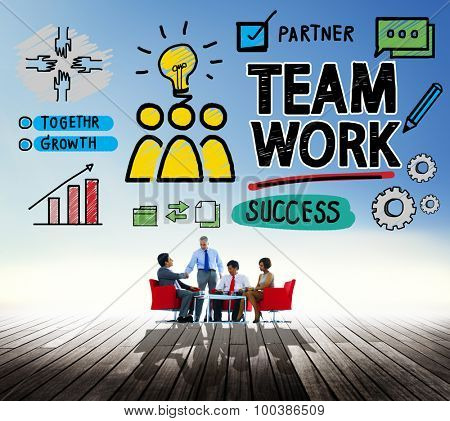 Team Teamwork Group Collaboration Organization Concept