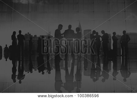 Business People Meeting Discussion Communication Concept