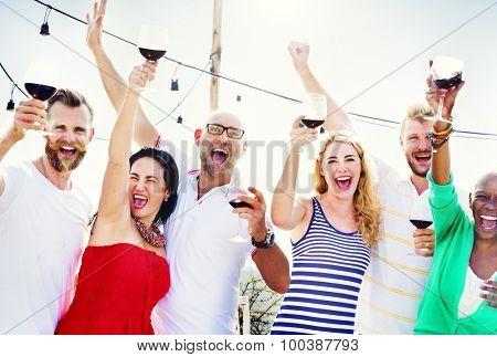 Friends Friendship Celebration Outdoors Party Concept