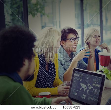 Group of Diverse Cheerful Business People Concept
