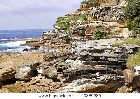 Rock Formations by the Sea