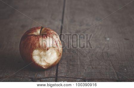 Apple With Cut Heart Shape