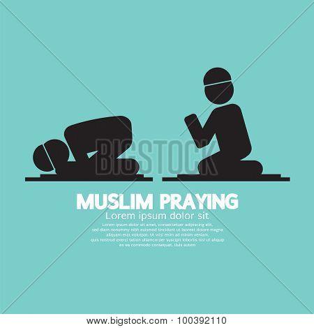 Muslim Praying Symbol.