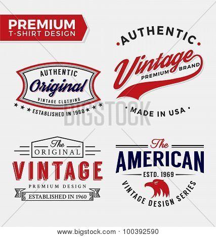 Set Of Premium Apparel T-shirt Design