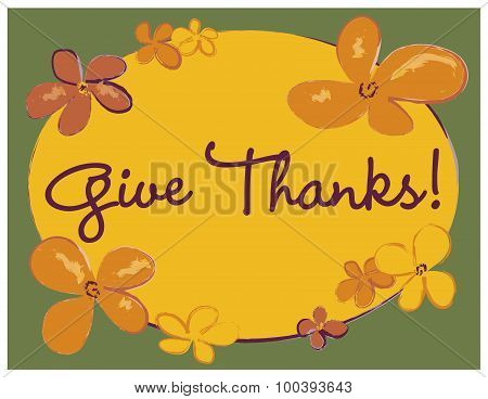 Give Thanks Poster