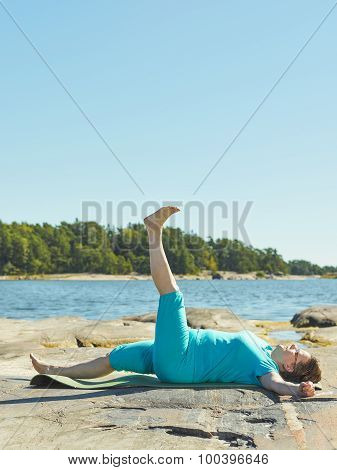 Real-life Fitness Training, Mature Woman