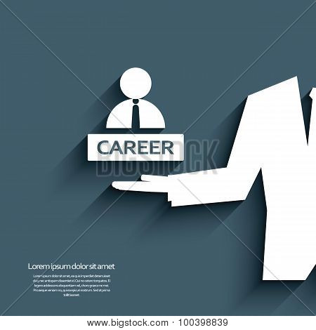 Job career symbol with businessman