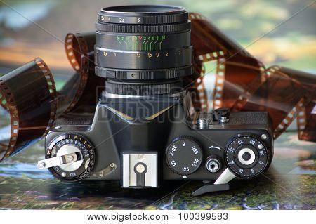 Old film camera.