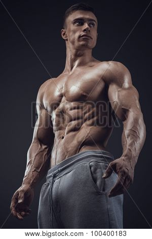 Close-up Of Athletic Muscular Man