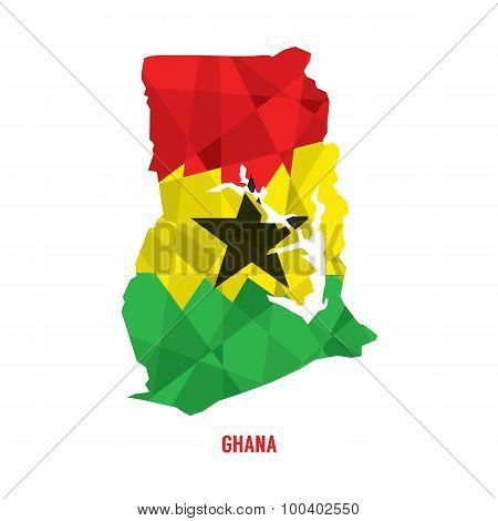 Map Of Republic Of Ghana.