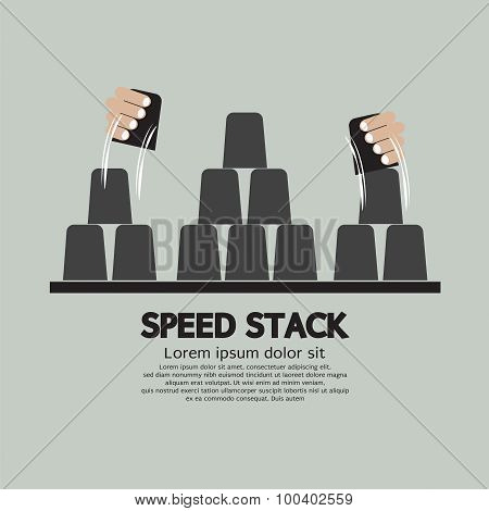 Speed Stack Playing.