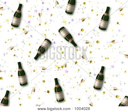 Champaign Bottle Celebration
