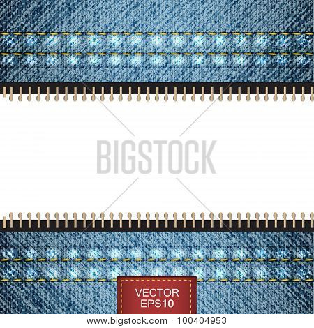 Vector denim jeans background