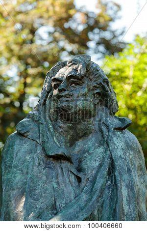 PARIS, FRANCE - SEPTEMBER 12, 2014: Paris - Rodin Museum.The Monument to Balzac