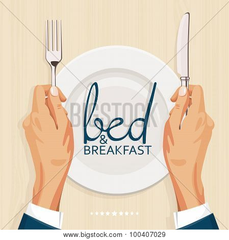 Bed and breakfast menu cover template