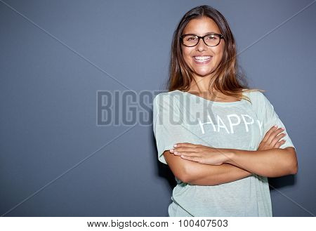 Confident Jaunty Attractive Young Woman