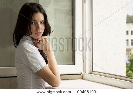 Portrait Of The Beautyful Brunette