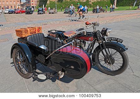 Sidecar Motorcycle Nsu 501 T (1927)