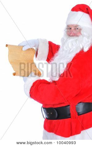 Santa Claus With Naughty List