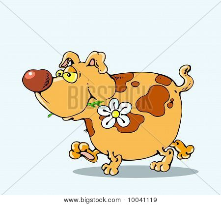 The Dog Is A Flower