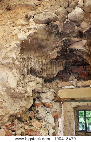 Dry Rot On Old Wall