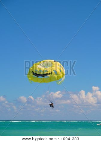 Parachute In Blue Sky