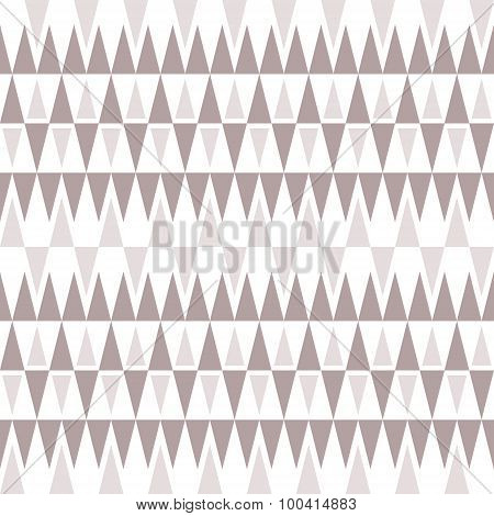 Stylish Elegant Seamless Pattern Of Triangles In Gentle Brown-gray Tones