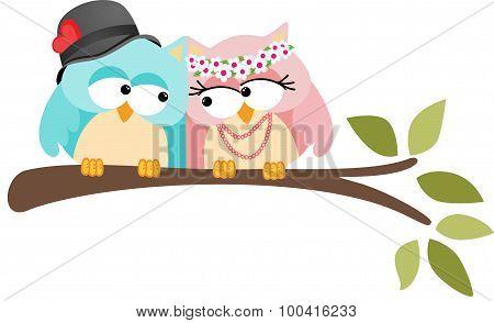 Adorable Couple Wedding Cute Owls