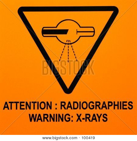 Sign: Warning Xrays