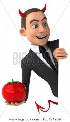 Evil businessman