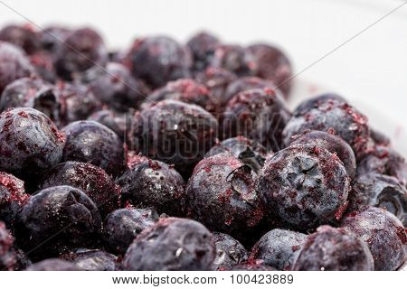 Snap-frozen blueberries