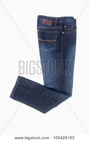 Jeans. Blue Jeans On A Background
