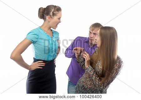 Image of angry businesswoman