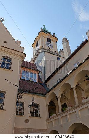 Belfry (1370) Of Old Town Hall In Bratislava, Slovakia
