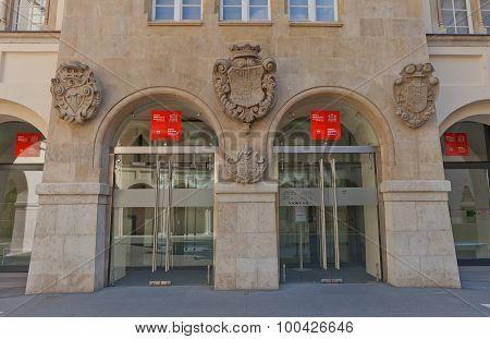 Entrance Of Bratislava City Museum, Slovakia
