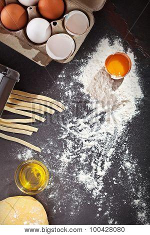 Traditional Italian Homemade Tagliatelle