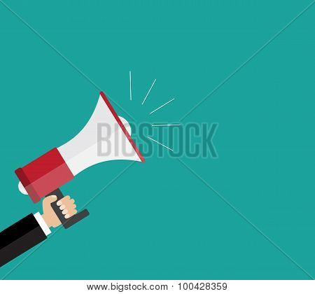 Digital Marketing Business Man Holding Megaphone