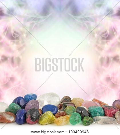 Healing Crystals Border
