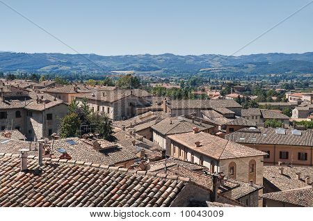Panoramic view of Gubbio. Umbria.