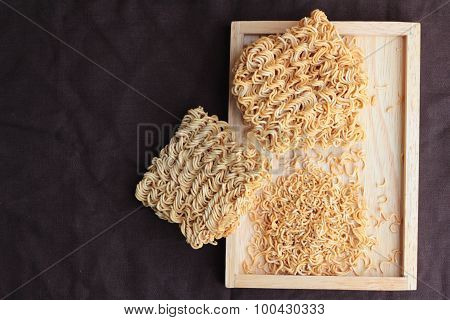 Dry instant noodle - asian ramen for cooking