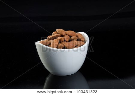 Almond, Almond On A Background