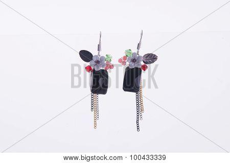 Earring. Earring On The Background
