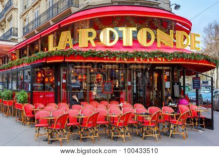 Cafe de la Rotonde in Paris, France