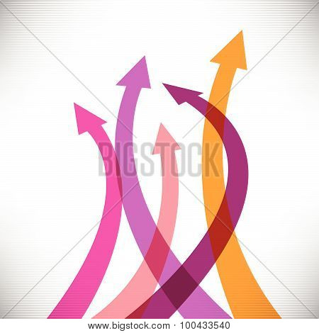 Success arrows creative background