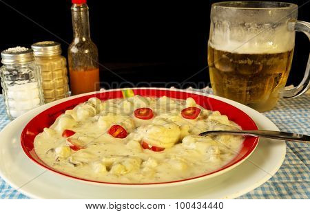 Cajun Chowder With Beer