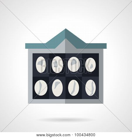 CT scan of brain flat vector icon.