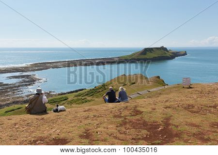Worms Head at Rhossili The Gower South Wales